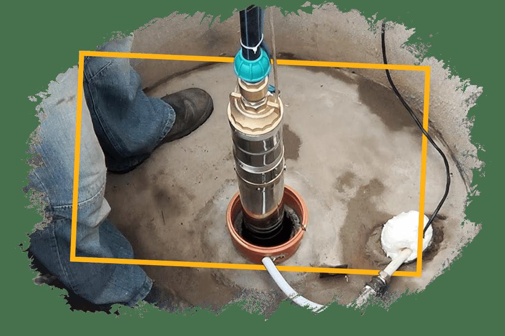 Монтаж насосного оборудования в колодце